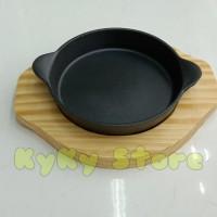 Round Hot Plate Steak Plate Bulat 15 cm Pepperlunch Cast Iron MY15