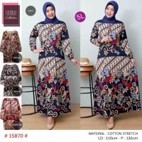 gamia strect batik ukuran jumbo 5l.kwalitas terbaik batik print