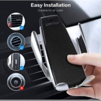 Wireless Car Charger Air Vent Smart Sensor Mount Holder Hp Mobil 10WS5