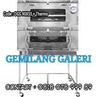 Oven Gas Stainless Steel 90 x 55 + Thermo