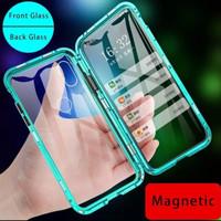 Case Magnet XIAOMI REDMI NOTE 7 Double Kaca Depan Belakang 100% Ori