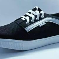 sepatu vans old skool pria quality premium termurah - Hitam, 42.5