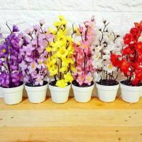Bunga sakura bunga plastik artificial palsu dekorasi bunga shabby chic