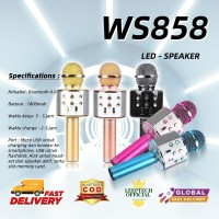 MIC WS858 Microphone Karaoke Bluetooth Mix Speaker Mikrofon Wireless