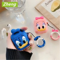 Cute Donald Duck Toy AirPods Case Cartoon Doll Soft Wireless Headset