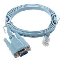 Kabel Adapter Flat 4.9ft RJ45 Male to D-SUB RS232 DB9 Female