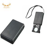 Lup/Kaca Pembesar Mini 30X-60X dengan Lampu LED & Sinar UV untuk
