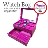 akaz organizer Full Fanta Watch Box / Kotak Tempat Jam Tangan Isi 12