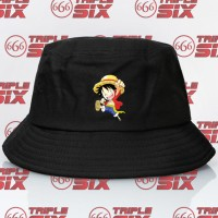 Topi Bucket Anime One Piece Luffy chibi