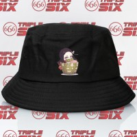 Topi Bucket Anime Nezuko Basket Chibi Demon Slayer