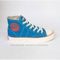 Sepatu Sekolah - Warrior Classic HC Biru Turkis