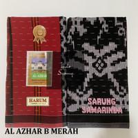 Sarung Samarinda Al Azhar harum tipe B - Merah
