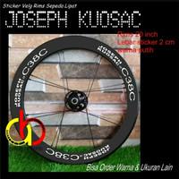 Sepeda Lipat Seli Stiker Velg Sticker Rims joseph Kuosac 20 inch 2 cm