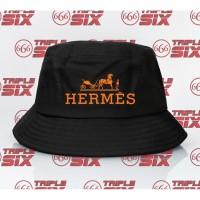 Topi Bucket Hat Premium Desain Herme Hermes Logo