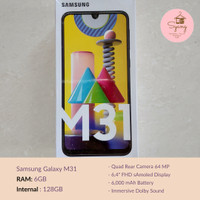 Samsung Galaxy M31 6/128 Gb RAM 4Gb Internal 64Gb Garansi Resmi SEIN