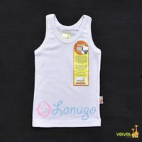 VELVET JUNIOR Singlet/Kaos Dalam Bayi/Baby Putih | Baju Bayi