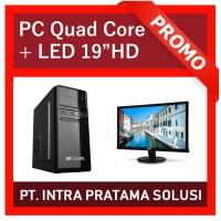 PC Rakitan Quad Core Lengkap (Siap Pakai, untuk Office / Admin)