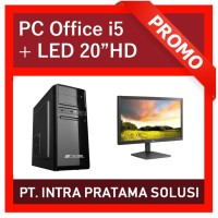 """PC Core i5 + 4GB RAM + HDD 1TB + LED 20"""" (For Office Needs)"""