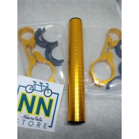 Tambahan stang panjang 15 cm warna emas gold nn store sepeda gowes