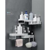 rak sudut kamar mandi diputar - corner shower rotary shelf rack corner