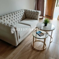 Kursi Sofa Empuk Model Chesterfield Modern