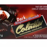 Colatta dark 250gr - coklat batangan colatta dark compound