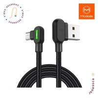 Kabel Data Micro USB McDodo Cable Elbow Gaming 2A 3m Fast Charging