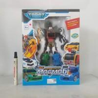Mainan action figure Tobot magma 6 Tinggi sekitar10 inch Artikulasi bi
