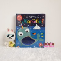 Buku Edukasi Anak Import Sequin Board Book - It's Nice To Be a Narwhal