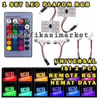 LED PLAFON RGB LED KABIN RGB LAMPU LED INTERIOR KABIN T10 FESTOON RGB