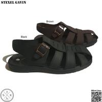 STEXEL GAVIN Sandal Sepatu Casual Kulit Sintetis Doff Premium Original