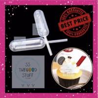 Pipet Plastik Infuser 4 ML untuk Cupcake / Ice Cream / Dessert Sauce