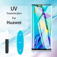 HUAWEI P30 PRO TEMPERED GLASS UV GLUE NANO LIQUID LIGHT SCREEN GUARD