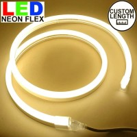 Lampu Led neon flex Rope light Custom Warna Kuning / WarmWhite meteran