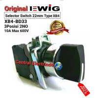 Selector Switch EWIG 22mm XB4-BD33 3posisi 2NO.