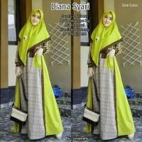 Baju Gamis wanita Diana Syari SET Ori bahan Moscrepe HQ Classic - Lime, XL