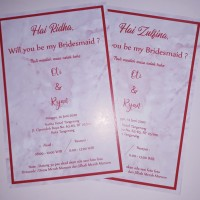 CARD Size 10x15 Kartu Bridesmaid Groomsmen Card Kartu Ucapan Wedding