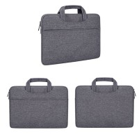 Tas Laptop 14 inch Macbook Softcase Nylon Jinjing Waterproof-Darkgrey