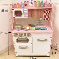 mainan Wooden kitchen set anak masak masakan anak mainan kayu