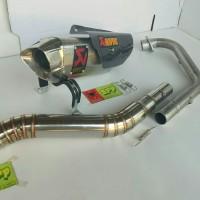 knalpot racing Akrapovic Vixion R15 Byson Xabre CBR CB GSX Sonic dll