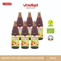 VOELKEL ORGANIC APPLE CIDER VINEGAR WITH MOTHER ( 6 PCS ) 750 ML