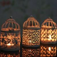 1 Buah Tempat Lilin Lentera Gaya Vintage Maroko