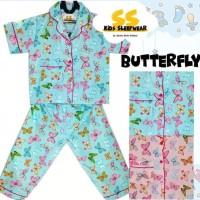 Promo Piyama Anak / Baju Tidur Anak Katun Premium - A37 - Size S,
