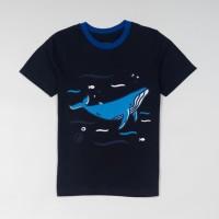 Best Seller Moosca Kids Whale Graphic T-Shirt Kaos Anak - Size L