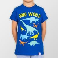 Promo Moosca Kids Dino T-Shirt Dino World Kaos Anak - Size L Harga