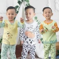 Best Seller 3 Setel Kazel Piyama Boy / Girl S 1-2Thn Piyama Anak Baju
