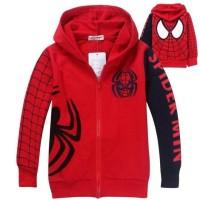 Promo Jaket Spiderman Usia Anak Tk Sd Size L 3-6Thn, Size Xl 6-10Thn