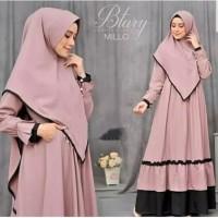Btary Gamis Set Syarii Dress Muslim Khimar Best Seller - Milo
