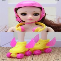 GON 3PCS set doll Sports Accessories Shoes Helmet Headset Color Rando