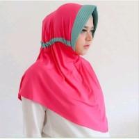 BUY 1 GET 1 Jilbab Serut Kombinasi Hijab Instan